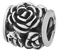 Prerogatives Sterling Silver Rose Bali Bead - J110042