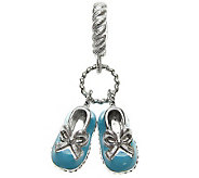 Judith Ripka Sterling Epoxy Enamel Baby ShoesDangle Charm - J309042