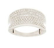 AffinityDiamond 1/2 ct tw Micropave Concave Band Ring, 14K Gold - J279643
