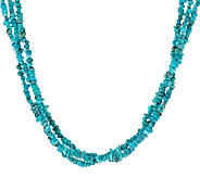 American West Turquoise 3-Strand 19-1/2 Toggle Necklace - J281043