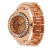 Wildlife by Heidi Klum Baguette Dial Bracelet Watch - J275144