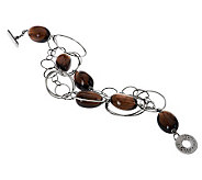 Ippocampo Sterling 7-1/4 Gemstone Link Toggle Bracelet - J268945