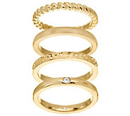 Veronese 18K Clad Set of 4 Stack Rings - J277745