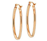 EternaGold 1 Polished Oval Hoop Earrings 14K Gold - J273246