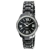 Peugeot Women's Swiss Ceramic Crystal Black Dial Watch