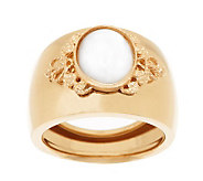 EternaGold Polished Mother-of-Pearl Band Ring 14K Gold - J272247