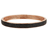 Bronzo Italia 12.00 ct tw Black Spinel Large Round Bangle - J280247