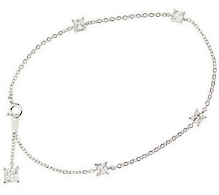 Epiphany Diamonique 10&quot Ankle Bracelet