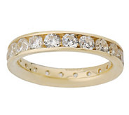 Diamonique 1.80 ct tw Silk Fit Eternity Band 14K Gold - J02348