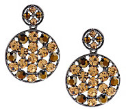 Joan Rivers Crystal Medallion Drop Earrings - J260948