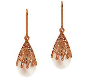 Adi Paz Cultured Freshwater Pearl Earrings 14K Rose Gold - J268348