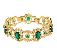 Jacqueline Kennedy Oval Simulated Emerald Wreath Bracelet - J154249