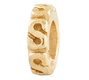 Prerogatives Gold-Plated Sterling Swirl SpacerBead - J302649