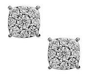AffinityDiamond 1.00 ct tw Cushion Shaped Cluster Studs, 14K Gold - J272651