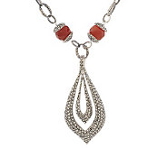As Is Suspicion Sterling 18 Bead Necklace & Enhancer - J274654