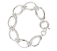 UltraFine Silver 7-1/4 Polished Status Link Bracelet, 23.8g - J281054