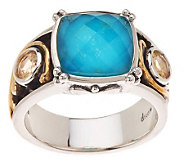 Echo of the Dreamer Acanthus Gemstone Doublet Ring - J271155