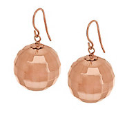 Oro Nuovo Polished Faceted Bead Drop Earrings 14K - J283556