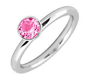 Simply Stacks Sterling Round Pink TourmalineRing - J298756