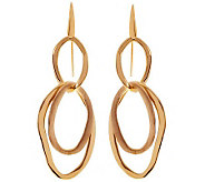 Arte dOro Polished and Satin Finish Dangle Earrings, 18K - J310056