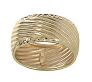 EternaGold Polished Ribbed Texture Band Ring, 14K Gold - J264757