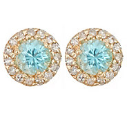 Exotic Gemstone & 1/10 ct tw Diamond Earrings,14K Gold - J300959