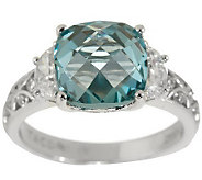 Tacori IV Diamonique Epiphany 4.00ct Simulated Aqua Tourmaline Ring - J262560