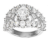 Tacori IV Diamonique Epiphany Bloom Cut Statement Ring - J273762