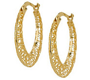 Adi Paz Floral Design Open Work 3/4 Hoop Earrings, 14K - J274162