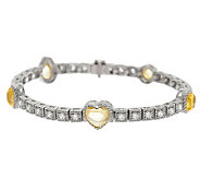 Judith Ripka Sterling 7-1/4 12.25cttw Diamonique Tennis Bracelet - J278062