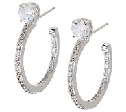 Epiphany Diamonique 1 Stud Style Inside-Out Hoop Earrings - J271663