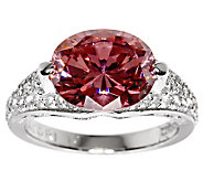 Tacori IV Diamonique Epiphany Simulated Pink Tourmaline Ring - J273765