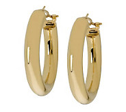 Arte dOro 1-3/8 &quot Hoop Earrings with Omega Backs, 18K Gold - J305765