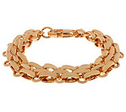 Bronzo Italia 7-1/4 Polished Fancy Oval Link Bracelet - J311966