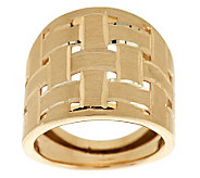 EternaGold Bold Basketweave Pattern Ring 14K Gold - J275767