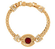 Jacqueline Kennedy Simulated Round Ruby Bracelet - J267970
