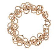 Bronzo Italia 7-1/4 Polished & Textured Circle Bracelet - J278570