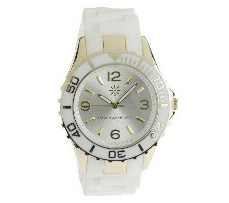 Isaac Mizrahi Live Boyfriend Silicone Strap Watch   J261371