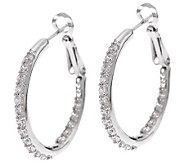 Epiphany Diamonique Inside-Out 1 Hoop Earrings - J271271