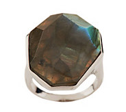 Lee Sands Labradorite Faceted Sterling Ring - J274071