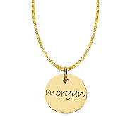 Posh Mommy 18K Gold-Plated Mini Disc Pendant with Chain - J300071