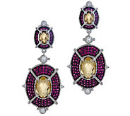 Judith Ripka Sterling 8.50ct Gemstone and Diamonique Drop Earrings - J266172