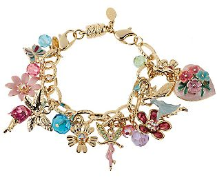 Kirks Folly Blooming Love Locket Magnetic Adj Charm Bracelet - QVC.com