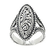 Carolyn Pollack Silver Rodeo Sterling Oval Ring - J265874