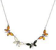 Artisan Crafted Sterling 18 Limited Edition Butterfly Balti Amber Necklace - J269974