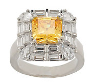 Smithsonian Simulated Hooker Yellow Diamond Ring - J274674