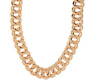 Bronzo Italia 20 Double Curb Link Necklace - J277275