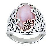 Carolyn Pollack Sterling Mother-of-Pearl Buttercup Ring - J312276