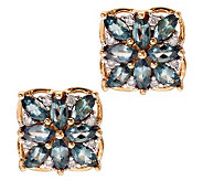 1.20 ct tw Alexandrite & 1/10 ct tw Diamond Stud Earrings, 14K - J276277