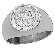 Sterling Army Signet Ring - J303777